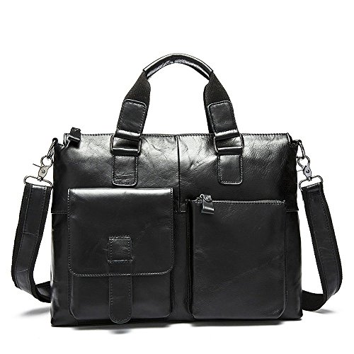 Stepack Marken-Männer echtes Leder-Kurier-Beutel-Schulter-Beutel für Aktenkoffer-Handtasche (Laptop-tragetaschen Nette)