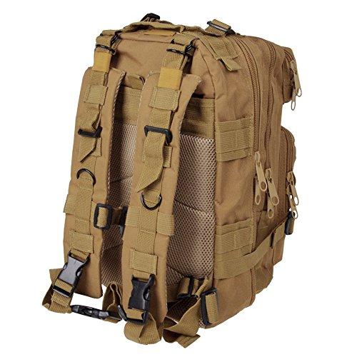 Sijueam US Assault Pack Small Rucksack ca. 25L(Minimum 8L) Khaki
