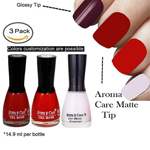 White Matte Nail Polish, Red Matte Nail Polish and Reddish Orange Matte Nail Polish by Aroma Care, 14.9 ml per bottle