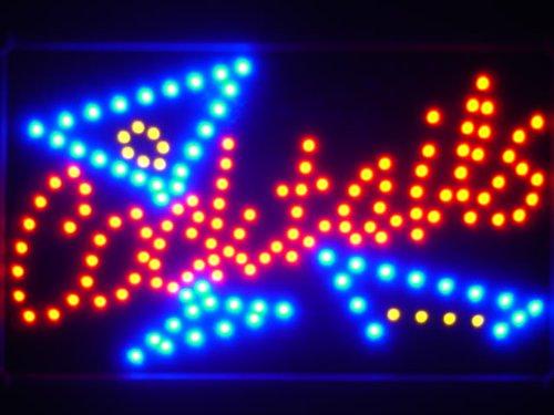 ADV PRO led040-r Cocktails Bar LED Neon Light Sign Whiteboard Barlicht Neonlicht Lichtwerbung
