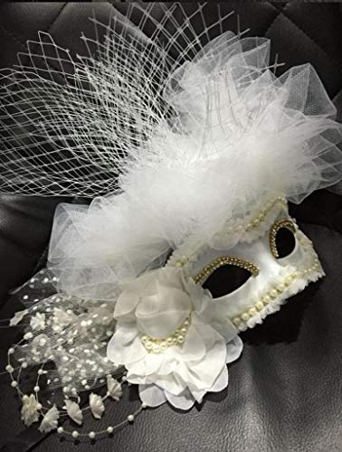 Back To My Hut Cosplay Maske, Halloween Maskerade Maske Schleier, Übertriebene Prinzessin Party Maske,White