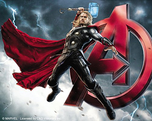 "AVENGERS AGE OF ULTRON THOR A, Officially Licensed Original Artwork, 4"" x 5"" - Sticker DECAL autocollant"