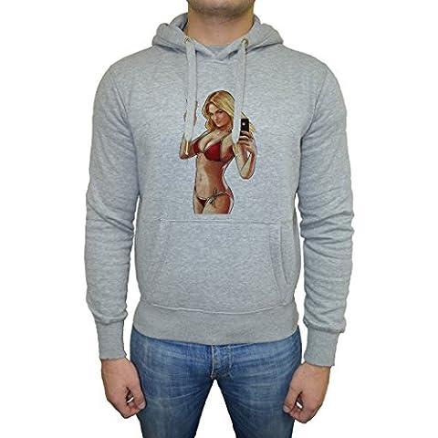 GTA V Hombre Sudadera Sudadera Con Capucha Pullover Gris Todos Los Tamaños | Men's Sweatshirt Hoodie Pullover