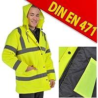 Warnjacke Sicherheitsjacke DIN EN471 Signalgelb L+XL, Größe:L preisvergleich bei billige-tabletten.eu