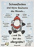 """Sheepworld 61032 Adventskalender """"Schneeflocken sind kleine Geschenke des Himmels"""""""