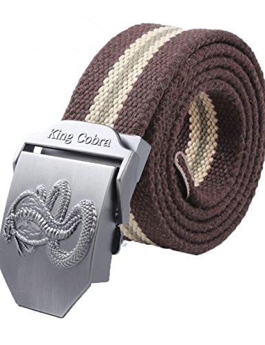 menschwear-mens-adjustable-cotton-canvas-belt-metal-buckle-military-style-45-120cm-coffee-stripe