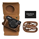 Best Case Logic Cameras - kinokoo PU Leather Camera Case for Canon G7X Review
