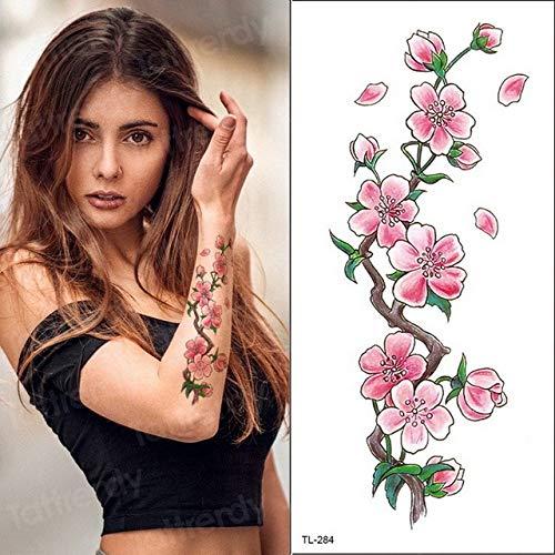 Handaxian 3pcsLotus Tattoo Sticker Body Art wasserdichte Tattoo Weibliche Rückseite Lotus Sticker Bikini Girl - Poster Trading Card