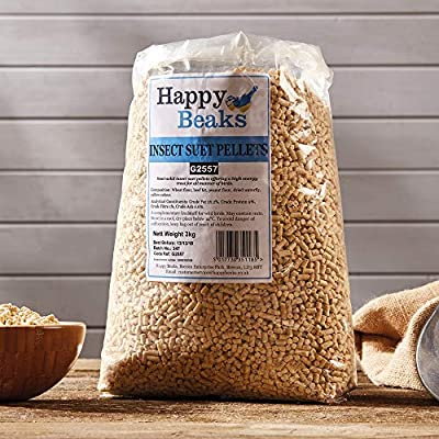 High Energy Premium Insect Suet Wild Bird Food Pellets by Happy Beaks by Happy Beaks