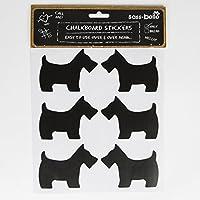Confezione da 12 adesivi a forma di cane, razza Scottie etichette & By Sass Belle