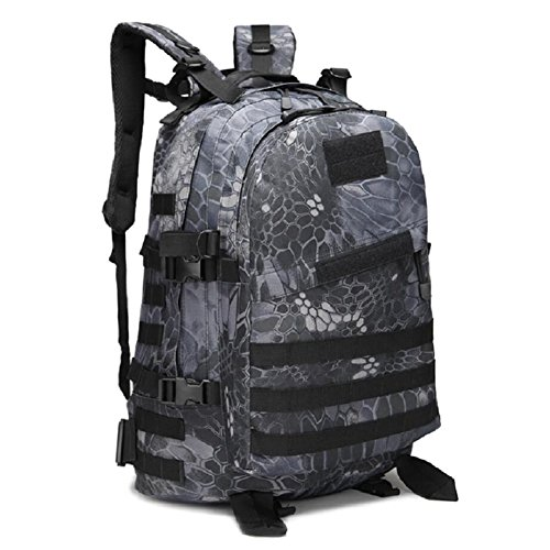 Z&N Militär-Fan Tarnung Bergsteigen Tasche taktischen Rucksack Outdoor-Camping-Tasche militärischen Rucksack Wanderrucksack wasserdichte große Kapazität Casual Laptop Rucksack I