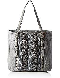 Taschendieb Td0118g, Bolsos maletín Mujer, Grau, 8x28x28 cm (B x H T)