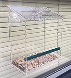 Vogelfutterhaus transparent Galeara Design Vogelfutterstation