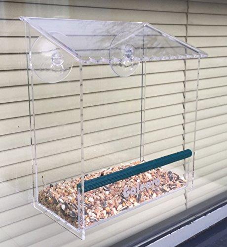 Comedero para pájaros Galeara design transparente