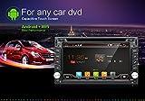 Aggiornamento versione WiFi Model Android 6.0Qure Core doppio DIN autoradio stereo navigazione GPS per auto universale con telecamera libera