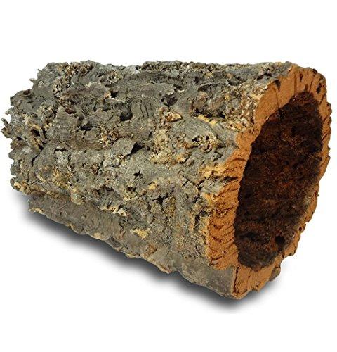 Korkrinde | Korkröhre | Korktunnel | Baumstammtunnel | ca. 30 cm lang, Ø = 15-20 cm (Innen-Durchmesser) (30 cm | ohne Schlitz)