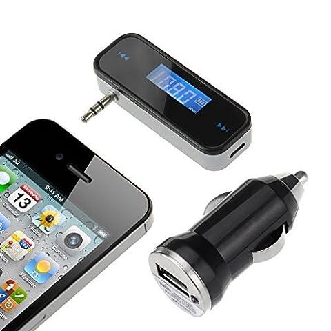 Chargeur allume-cigare [avec] VicTop Adaptateur radio émetteur FM Kit Voiture voiture 3,5mm avec stéréo pour (Frequenza Completa Trasmettitore Fm)