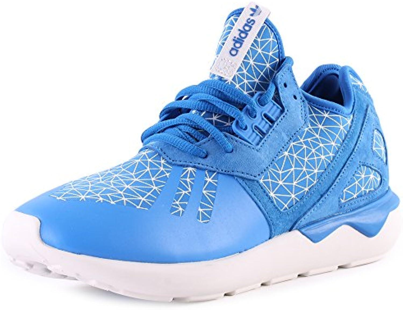 cuir et synthétiques chez chez synthétiques adidas tubular pr formateurs bleu - blanc - 9, royaume - uni 16f368