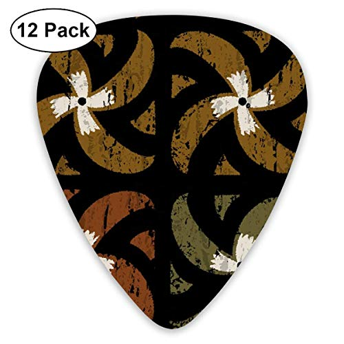 Midcentury Tapa 1a_2791 Classic Celluloid Picks, 12-Pack, For Electric Guitar, Acoustic Guitar, Mandolin, And Bass