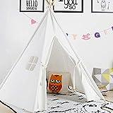 Cocoarm Kinder Tipi Zelt Tragbare Spielhaus Kinder Leinwand Zelt Draußen und Drinnen Spielzelte mit...