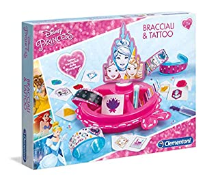 Clementoni-15251-Art & Craft-Princess-Bracelets & Tattoos-Disney