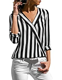 newest 8616d d1231 Amazon.it: camicia righe bianche nere - T-shirt, top e bluse ...