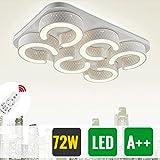 HG® 72W LED Deckenleuchte Dimmbar Fernbedienung Esszimmer Lampe Garderobe Energiespar Schlafzimmerleuchte