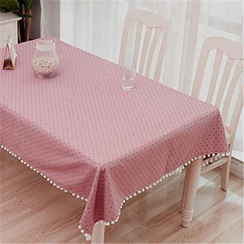 dische Tischdecke Rechteckige TischdeckeBuffet Tischbankett Feiertagsessen Mit Staubdichter Tischdecke Aus Baumwolle Und Leinen ()