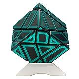 HJXDtech-Neuer unregelmäßiger magischer Würfel !! Ninja Geist Cube Lernspielzeug Twist Zauberwürfel Deformierte 3x3x3 Speed Puzzle Würfe mit Hollow Aufkleber und Würfel Stand (A)