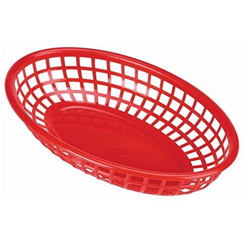 Genware FFB23-R Fast Food Basket, 23.5 cm x 15.4 cm, Red (Pack of 6)