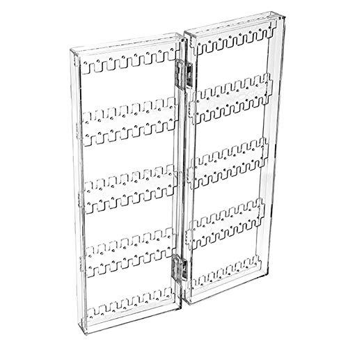 ECOLOG - Organizer per Gioielli, in plastica Trasparente, Pieghevole, per Appendere Orecchini, bracciali, collane, 2 Pannelli