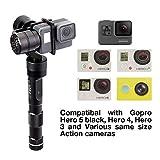 Zhiyun Eovolution 3-Achsen-Handheld Action-Kamera Stabilisator spritzwassergeschützt für GoPro hero4/3+/3 SJcam sj4000/5000 Für Yi Cam 4 K Kameras inklusive Stativ und 2 Stück extra Batterien