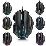 SPIRIT OF GAMER SOURIS GAMING XPERT-M500 8000 DPI 7 boutons dont 1 rapide fire rétro-éclairage 7 couleurs et réglage du poids