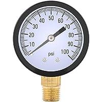 1/4 BSPT Rosca Medidor de presión hidráulica Aceite de agua Medidor de presión de gas aire 0-100PSI