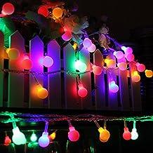 Innoo Tech Guirnaldas Luces Navidad 10M 100 LED Bombillas Multi-Colores Impermeable IP44 Guirnalda Luminosa para Decoración de Hogar, Jardín, Restaurante, Bar, Patio, Boda, Dormitorio, Fiesta de Cumpleaños,Reunión entre Familiares y Amigos (Enchufe Vesión