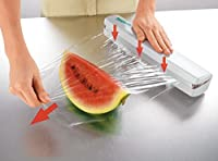 Emndr Wraptastic - Easy to Use Food Wrap Dispenser, Just Pull, Press, Cut, and Wrap Food in Parchment Paper, Aluminum Foil, Cling Wrap