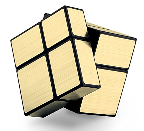 Cubo 2x2x2 Mirror, cube 2x2, dorado, regalo original LEVEL25