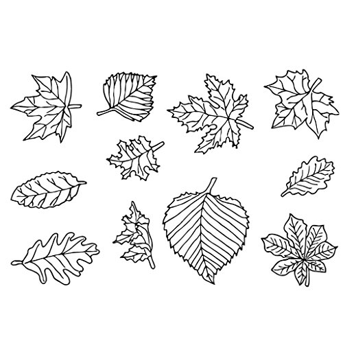 ECMQS Maple Leaves DIY Transparente Briefmarke, Silikon Stempel Set, Clear Stamps, Schneiden Schablonen, Bastelei Scrapbooking-Werkzeug -