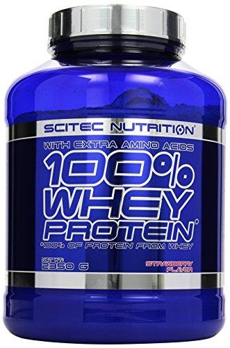 Scitec Nutrition Protein Whey Protein, Erdbeer, 2350g - 100% Whey Protein Erdbeere