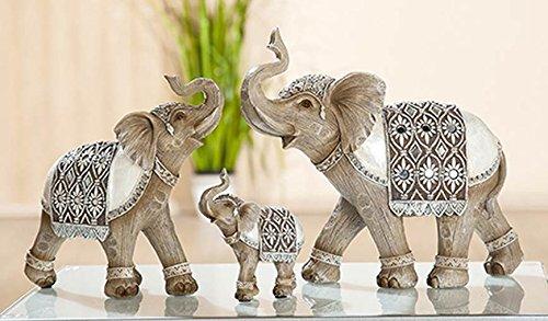 Gilde Poly Elefant Panjab - Juego de 2 mosaicos de Espejo (19...