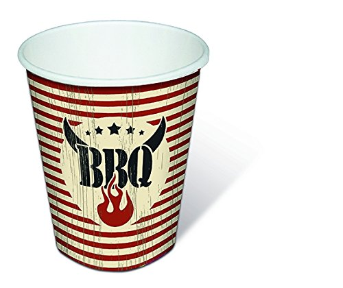 nkbecher 0.2 ltr Becher Five star BBQ Einwegbecher (Star Tischtuch)