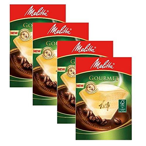 4 Dosen von Melitta Größe 1 x 4 Kaffee Gourmet Filter, 80 Stück