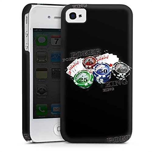 Apple iPhone 4 Housse Étui Silicone Coque Protection Poker Jeu de cartes Casino Cas Premium mat
