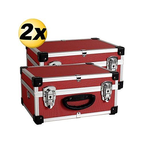 2 Aluminium Koffer rot PRM10106R Set