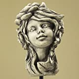 Blumenkind Sternwurz, Figur aus Steinguss, Gartendekoration, zum Aufstecken auf eine Stange