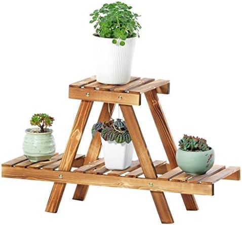 Étagères d'angle Supports de pots étagère Étagère de fleur étagère pots d'affichage multi-couche dans le salon support en bois trapézoïdal de fleur support de fleur d assemblée d'espace d'intérieur su 1cf9ea