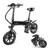 Phaewo Bicicletta elettrica Pieghevole, Fiido D1 Ebike 10,4 Ah Batteria agli ioni di Litio 250 W Tre modalità di Lavoro 14 Pollici con Luce LED Anteriore per Adulti (D1-Nero)