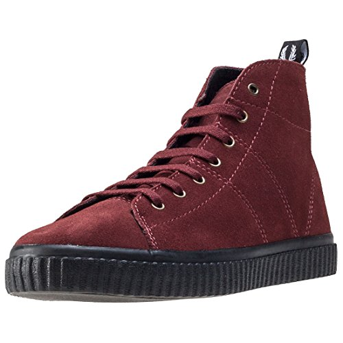 Fred Perry Ellemere Mid Donna Stivali Wine - 8 UK