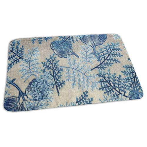 Voxpkrs Changing Pad Summer Blue Flowers and Leaves Art Baby Diaper Urine Pad Mat Vintage Boys Mattress Cover Sheet for Any Places for Home Travel Bed Play Stroller Crib Car -