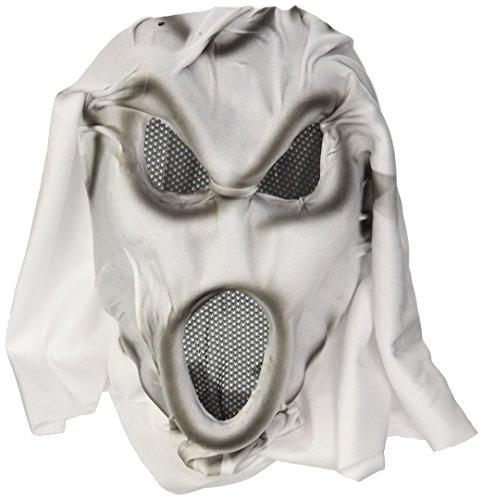 Widmann 13138 Heulende Gespenstermaske mit Kapuze für Erwachsene, (Scream Gesicht Maske)